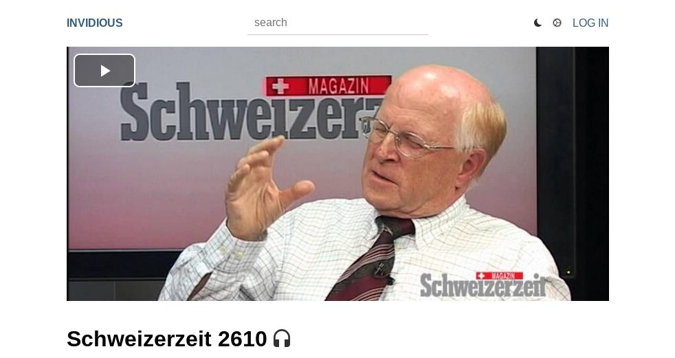 Screenshot Schweizerzeit